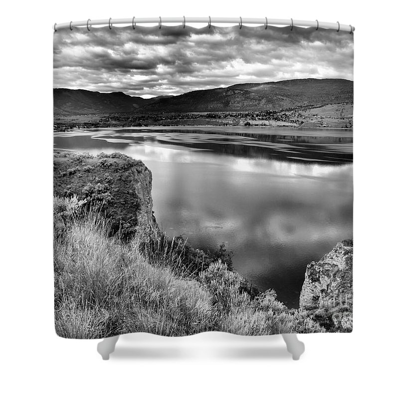 Lake Shower Curtain featuring the photograph The Lake In Black And White by Tara Turner