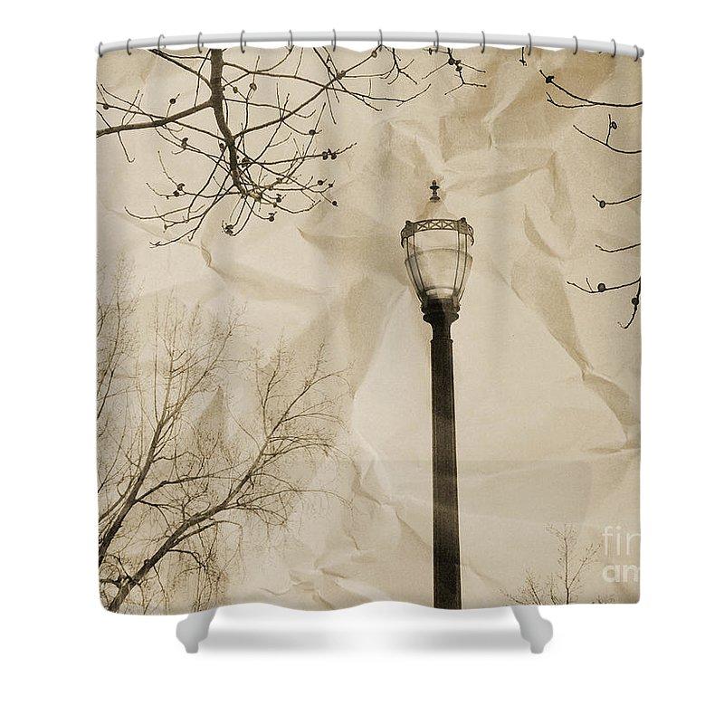 Street Shower Curtain featuring the photograph The Lampost by Tara Turner