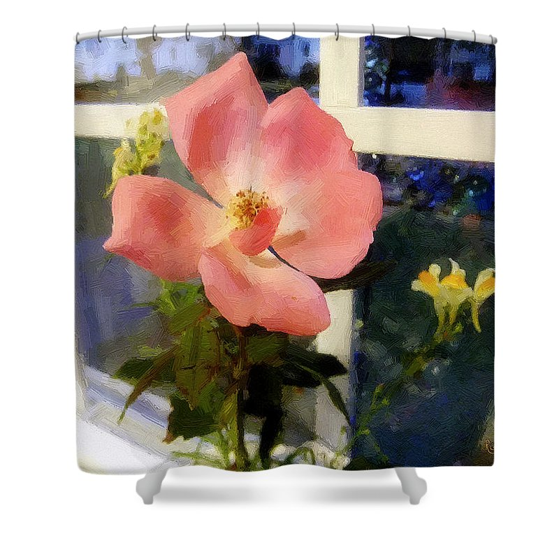 Rose Shower Curtain featuring the painting The Last Rose Of Summer by RC DeWinter
