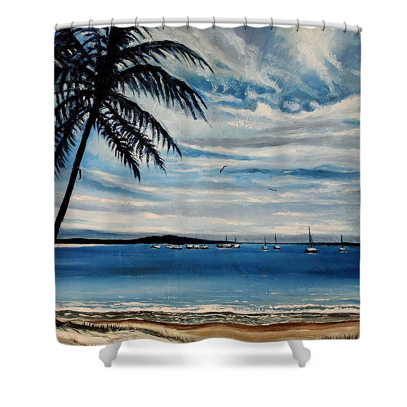 Landscape Shower Curtain featuring the painting The Life by Elizabeth Robinette Tyndall