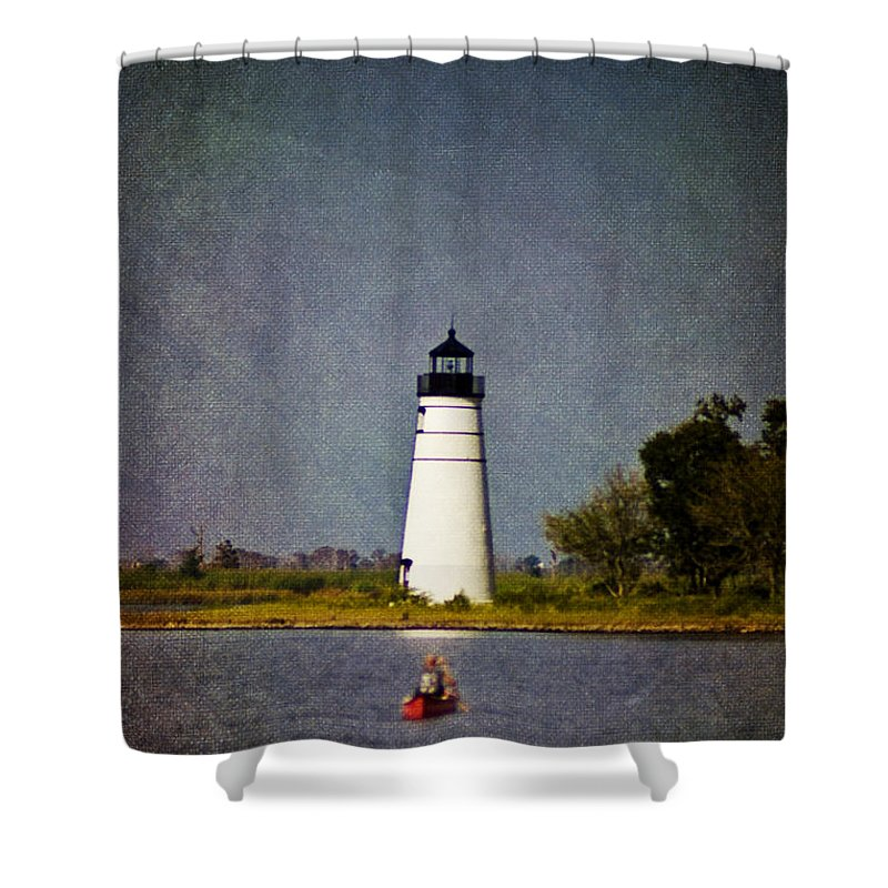 Lighthouse Shower Curtain featuring the photograph The Lighthouse by Scott Pellegrin