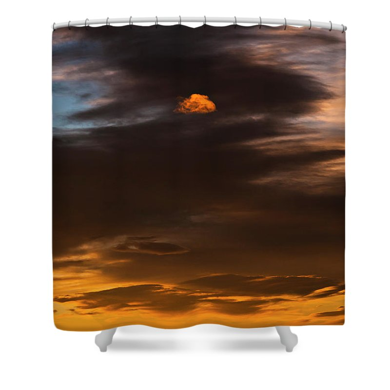 Cloud Shower Curtain Featuring The Photograph Little By Beth Riser