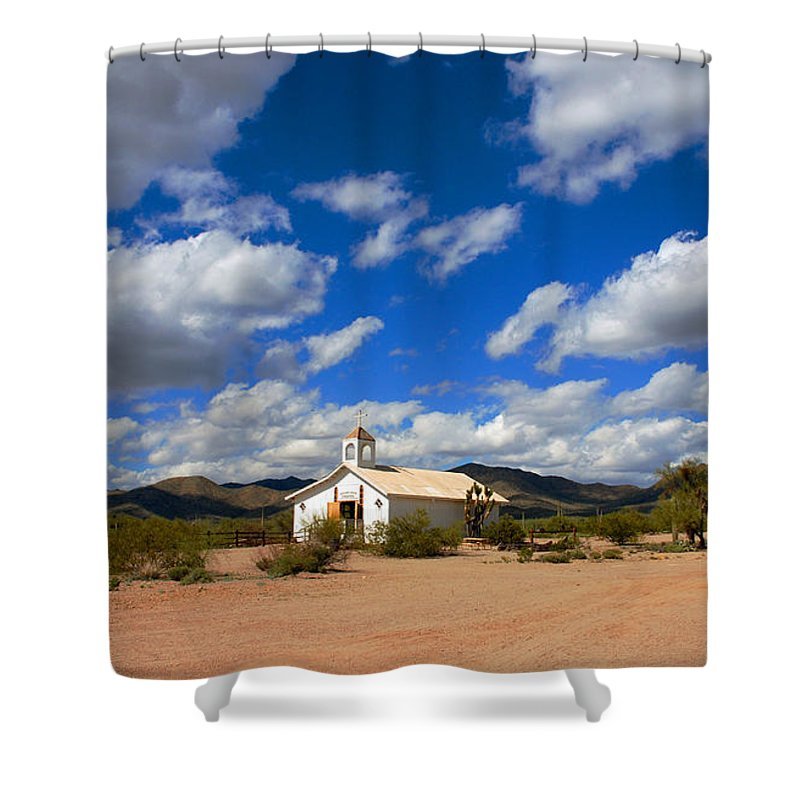 Photography Shower Curtain featuring the photograph The Little Country Church by Susanne Van Hulst
