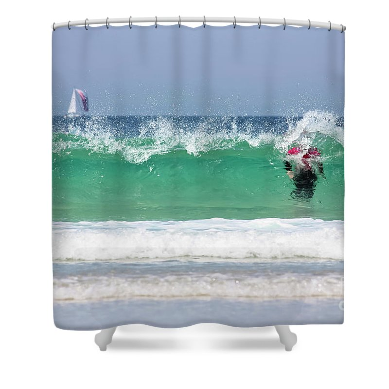 Cornwall Shower Curtain featuring the photograph The Little Mermaid by Terri Waters