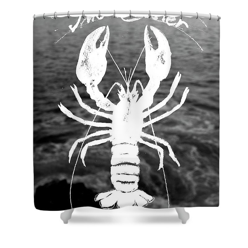 Clawed Lobster Shower Curtain Featuring The Painting By Juan Bosco