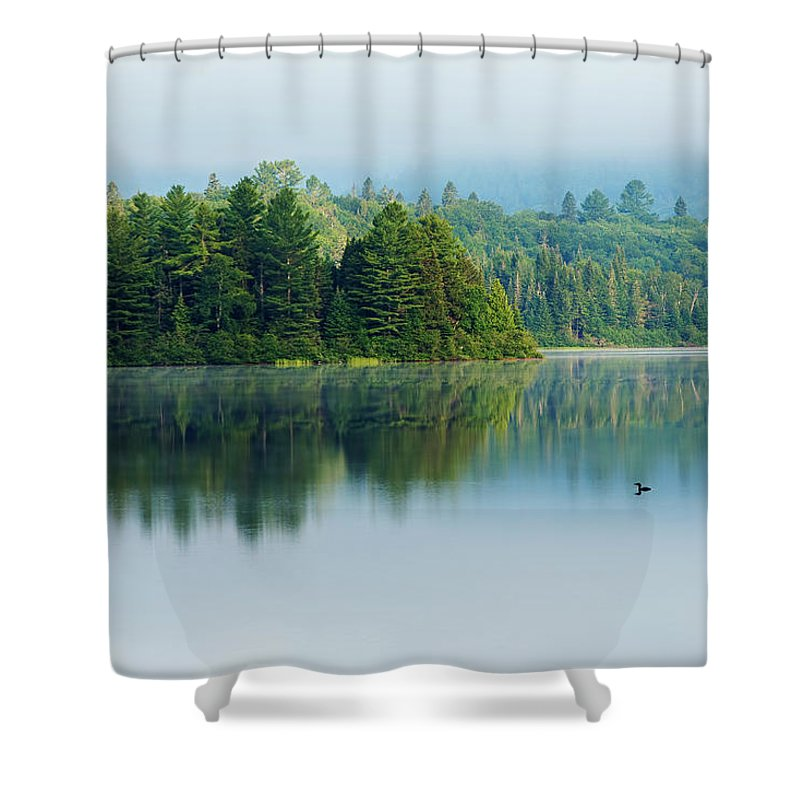 The Lonely Loon Shower Curtain For Sale By Mircea Costina Photography