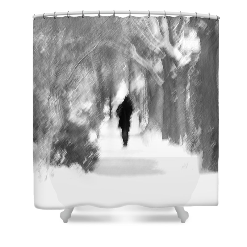 Blur Shower Curtain featuring the photograph The Long December by Dana DiPasquale