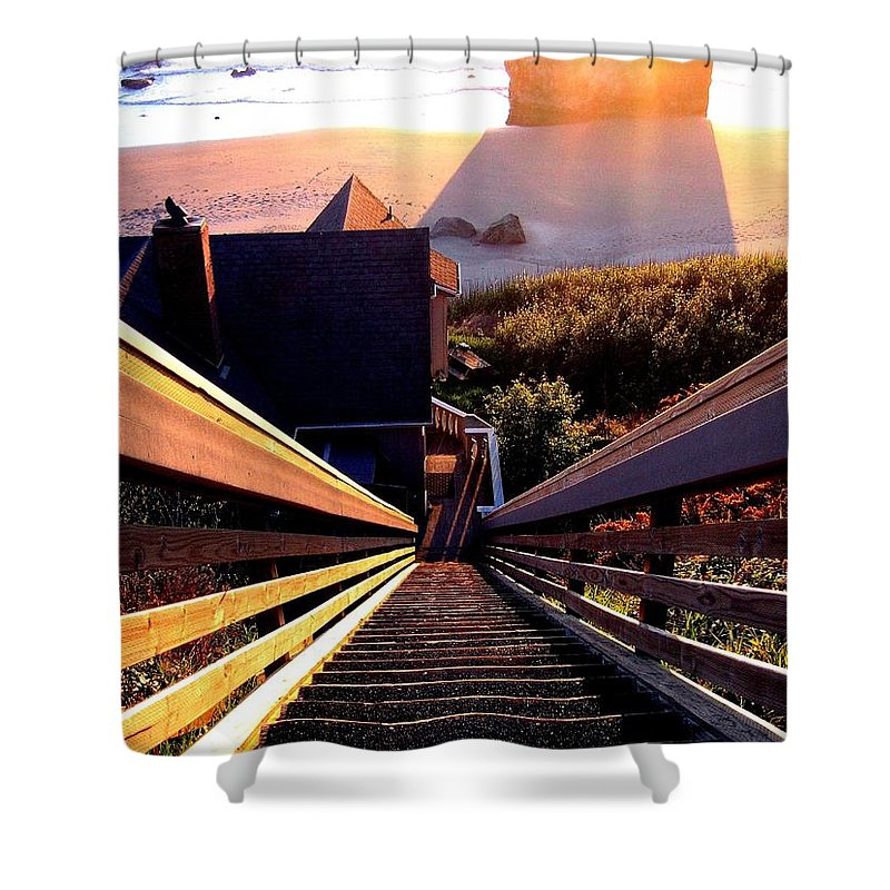 Stairway Shower Curtain featuring the photograph The Long Long Stairway  by Will Borden