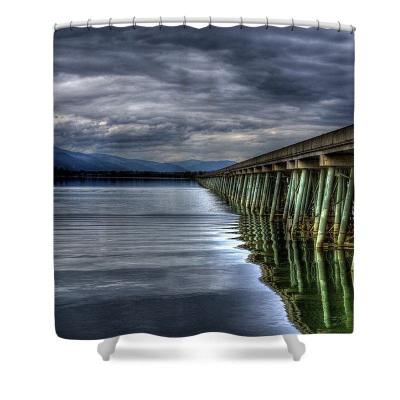 Sandpoint Shower Curtain featuring the photograph The Longbridge Version 1 by Lee Santa