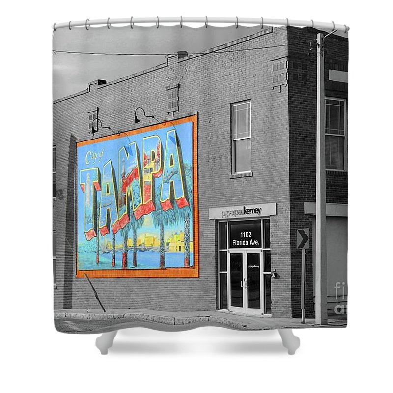 Tampa Shower Curtain featuring the photograph The Lost Tampa Postcard by Jost Houk