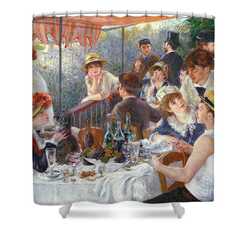 The Shower Curtain featuring the painting The Luncheon of the Boating Party by Pierre Auguste Renoir