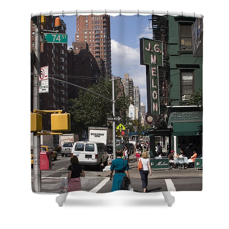 Woman Shower Curtain featuring the photograph The Manhattan Sophisticate by Madeline Ellis