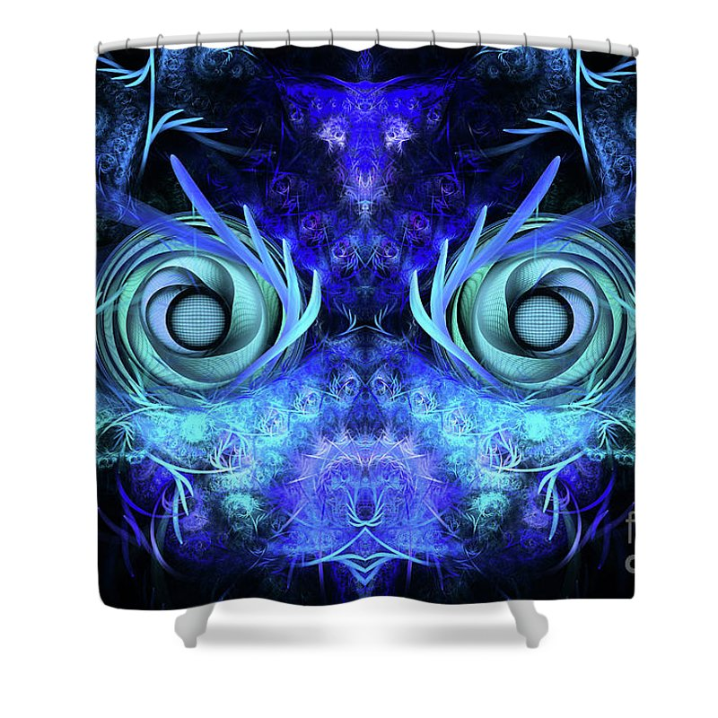 Mask Shower Curtain featuring the digital art The Mask by John Edwards