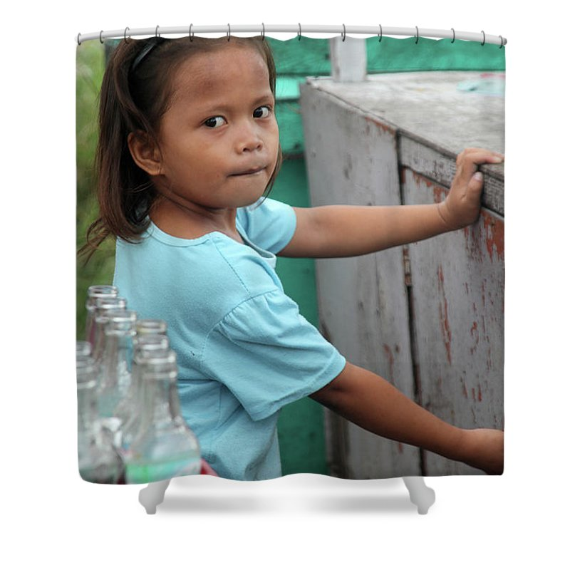 Cavite Shower Curtain featuring the photograph The Measure by Jez C Self