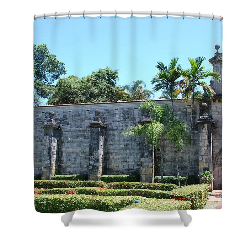 Florida Shower Curtain featuring the photograph The Miami Monastery by Rob Hans