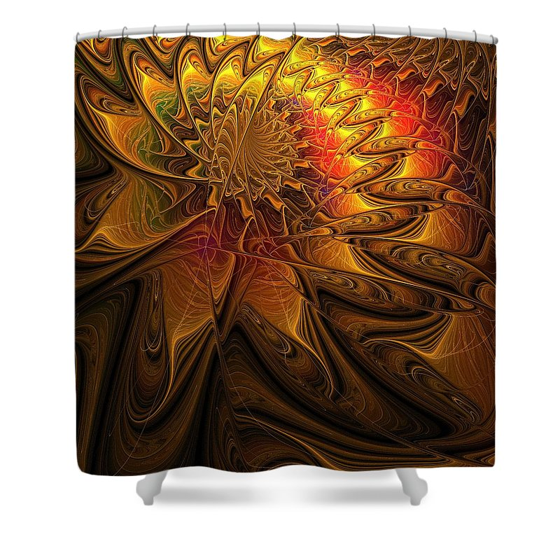 Digital Art Shower Curtain featuring the digital art The Midas Touch by Amanda Moore