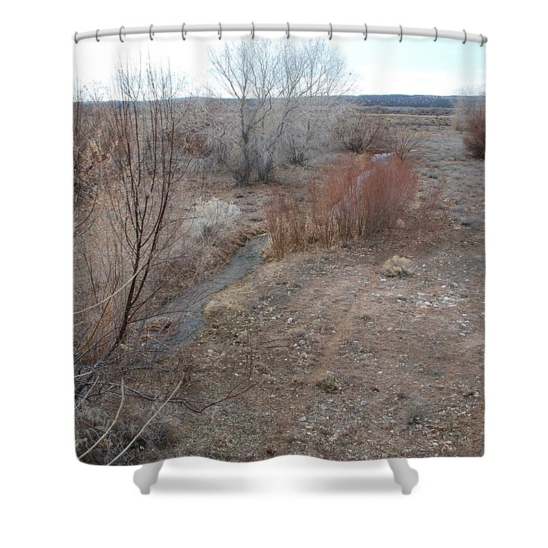 River Shower Curtain featuring the photograph The Mighty Santa Fe River by Rob Hans