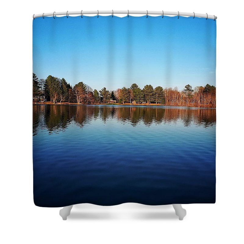 Nature Shower Curtain featuring the photograph The Mirror by Kelvin Ventura