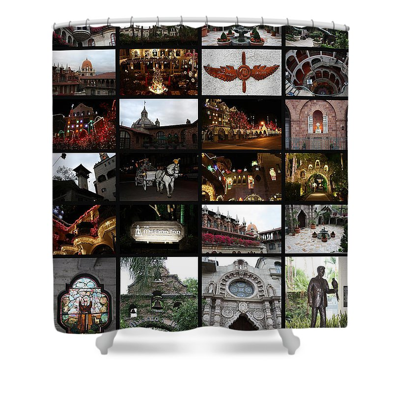 Mission Inn Shower Curtain featuring the photograph The Mission Inn by Tommy Anderson