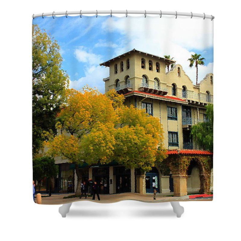 Adobe Shower Curtain featuring the photograph The Mission by James Eddy