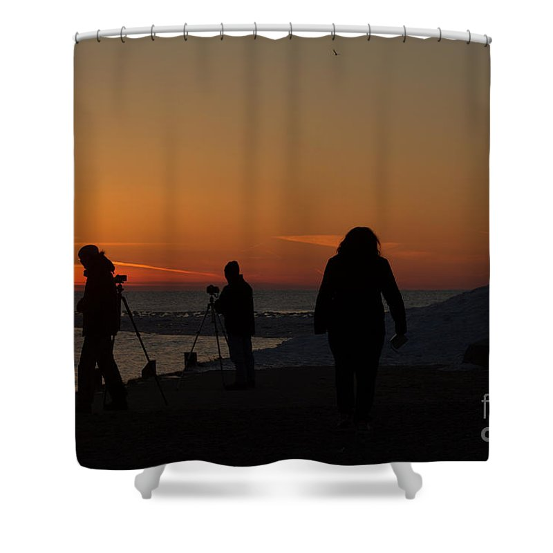 Grand Bend Shower Curtain featuring the photograph The Moment 6 by John Scatcherd