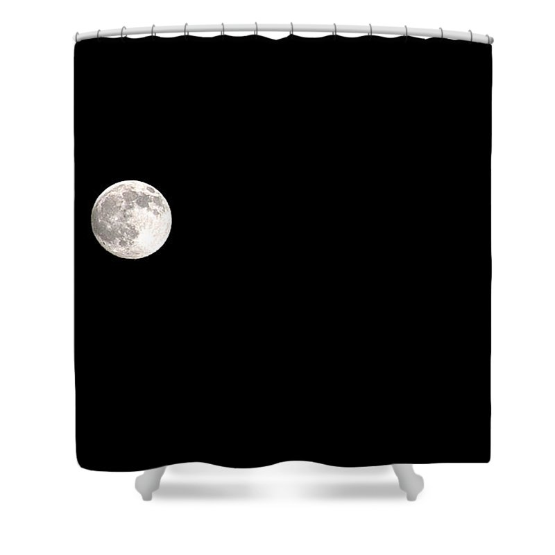 Clay Shower Curtain featuring the photograph The Moon by Clayton Bruster