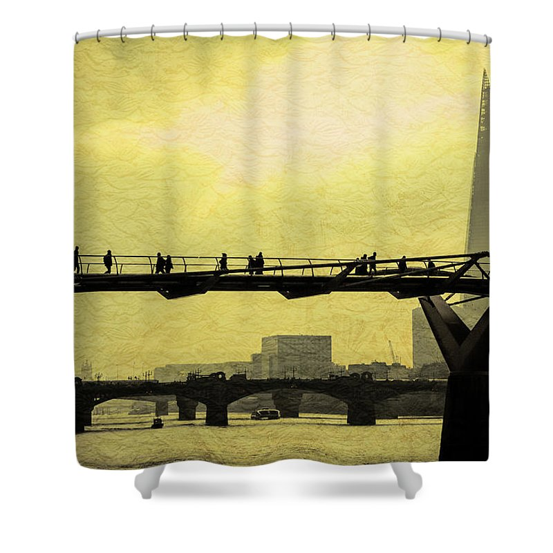 London Shower Curtain featuring the photograph The Morning Commute by Milton Cogheil