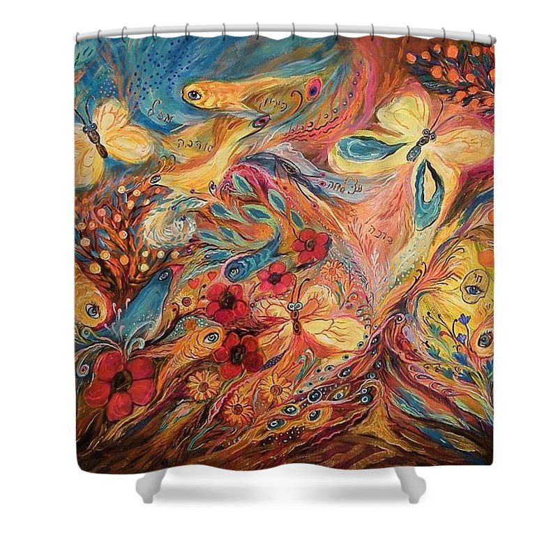 Shower Curtain featuring the painting The Morning Freshness by Elena Kotliarker