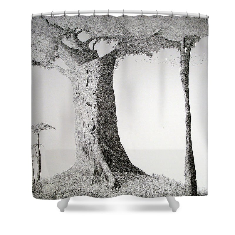 Landscape Shower Curtain featuring the painting The Mother Lode by A Robert Malcom