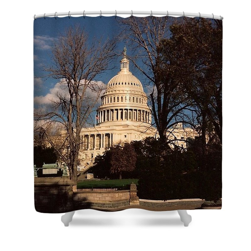 Capitol Building Shower Curtain featuring the photograph The Nation's Capitol by Lauri Novak