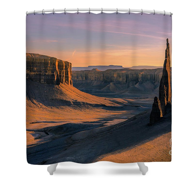Majestic Shower Curtain Featuring The Photograph Needle