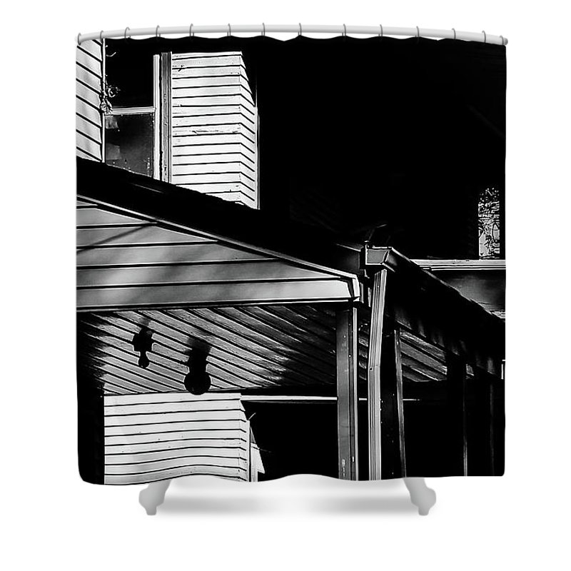Shower Curtain featuring the photograph The Neighborhood by Michael Nowotny