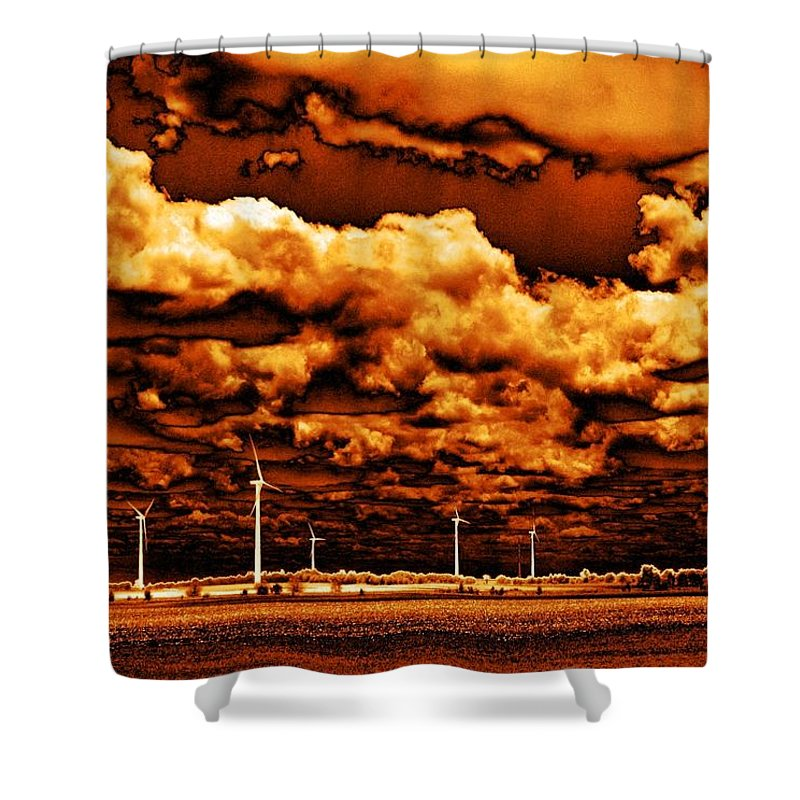 Sky Shower Curtain featuring the photograph The New Trees by Ed Smith