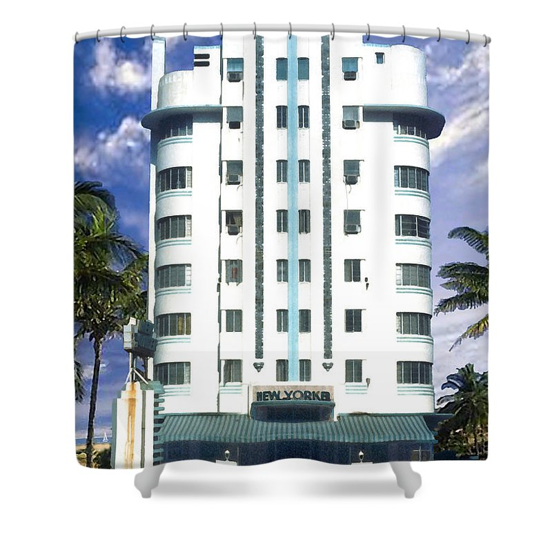 Miami Shower Curtain featuring the photograph The New Yorker by Steve Karol
