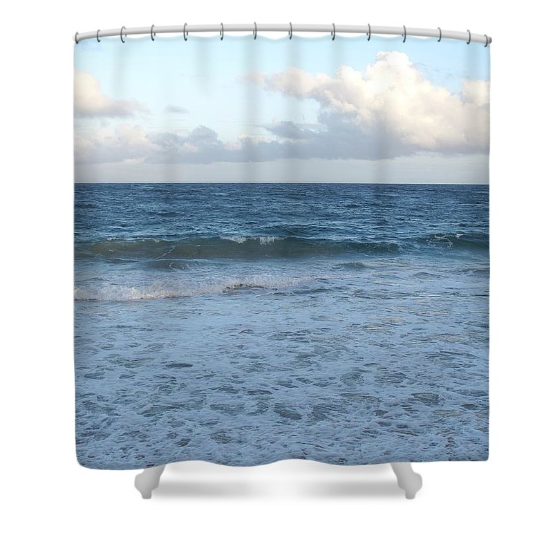 Surf Shower Curtain featuring the photograph The Next Wave by Ian MacDonald