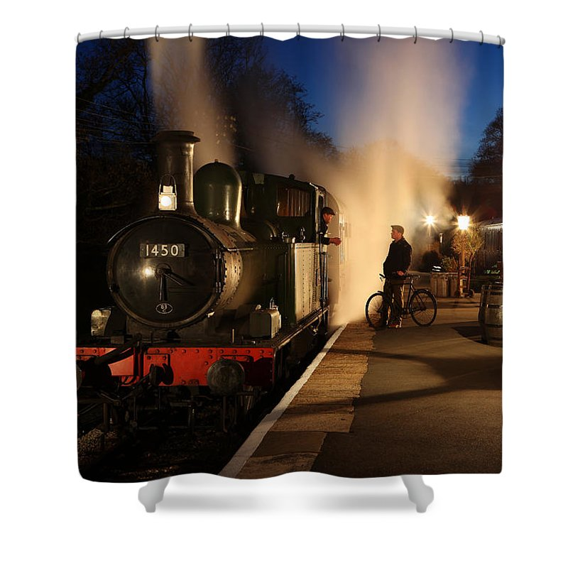 Steam Shower Curtain featuring the photograph The Night Shift by Robert Sherwood