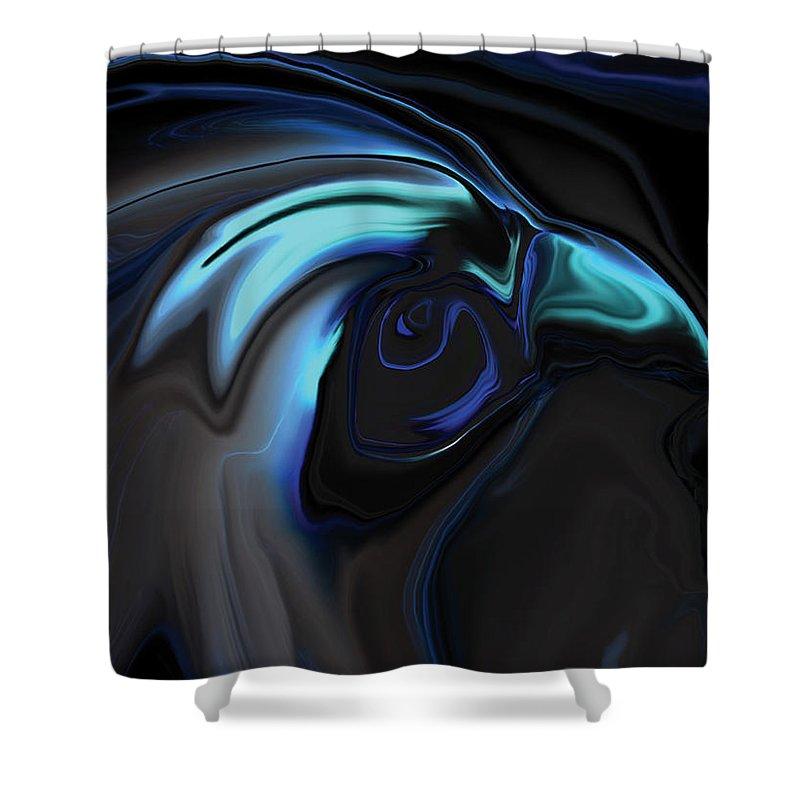 Birds Of Prey Shower Curtain featuring the digital art The Nighthawk by Rabi Khan