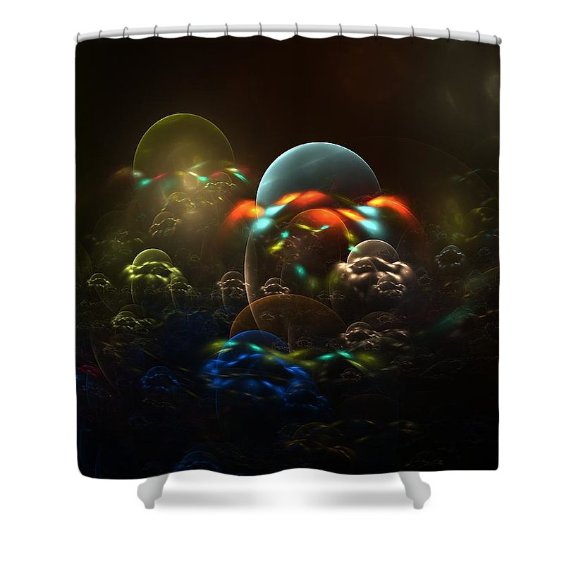 Fractal Shower Curtain featuring the digital art The Nursery by Lyle Hatch