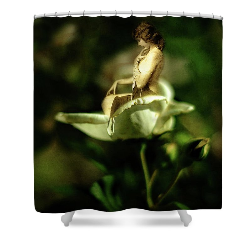 Nymph Shower Curtain featuring the photograph The Nymph by Rebecca Sherman