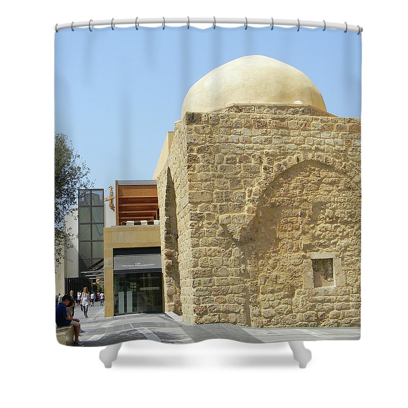 Marwan George Khoury Shower Curtain featuring the photograph The Old And The New by Marwan George Khoury