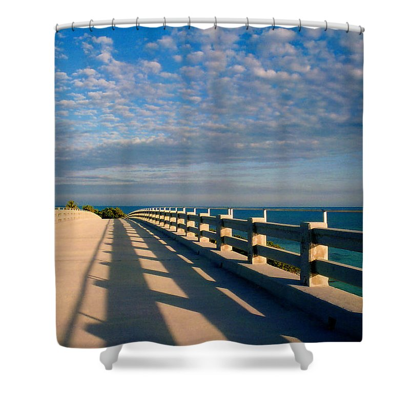 Bridges Shower Curtain featuring the photograph The Old Bridge by Susanne Van Hulst