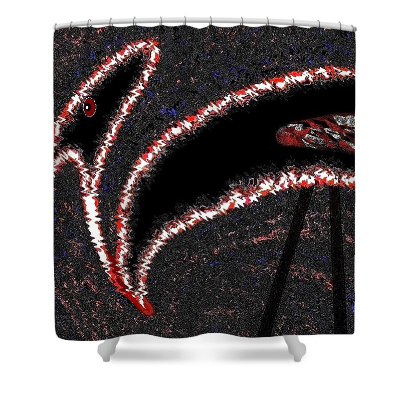 Buzzard Shower Curtain featuring the digital art The Old Buzzard by Will Borden