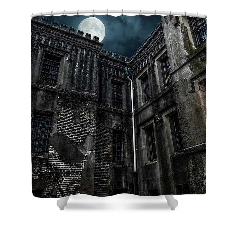 Old City Jail Shower Curtain featuring the photograph The Old City Jail by Dale Powell