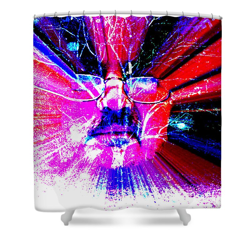 The Old Gardener Shower Curtain featuring the digital art The Old Gardener by Seth Weaver