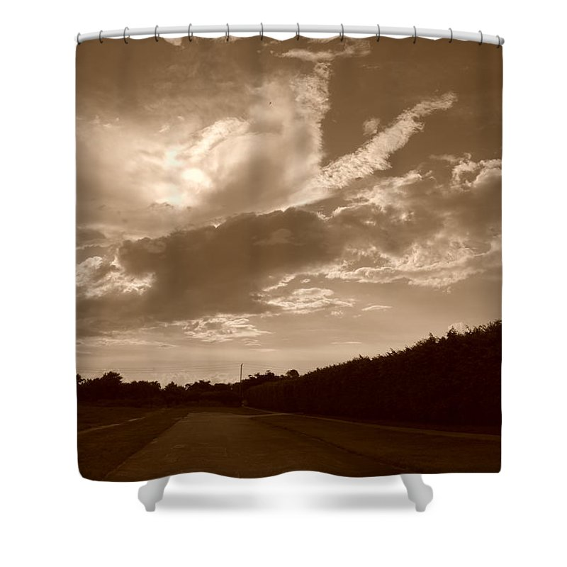 Sepia Shower Curtain featuring the photograph The Old Homestead by Rob Hans