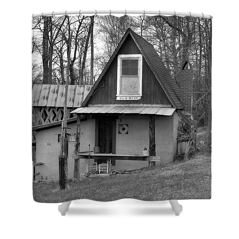 Mill Shower Curtain featuring the photograph The Old Mill by Richard Rizzo