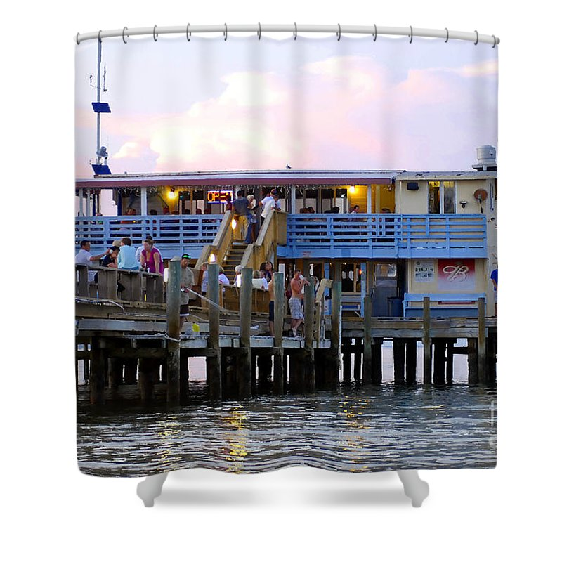 Fishing Pier Shower Curtain featuring the photograph The Old Pier by David Lee Thompson
