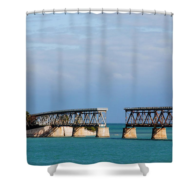 Flagler Shower Curtain featuring the photograph The Old Railroad To The Keys by Susanne Van Hulst