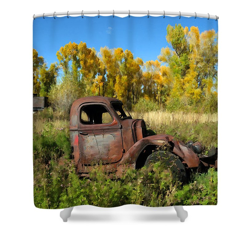 Truck Shower Curtain featuring the photograph The Old Truck Chama New Mexico by Kurt Van Wagner