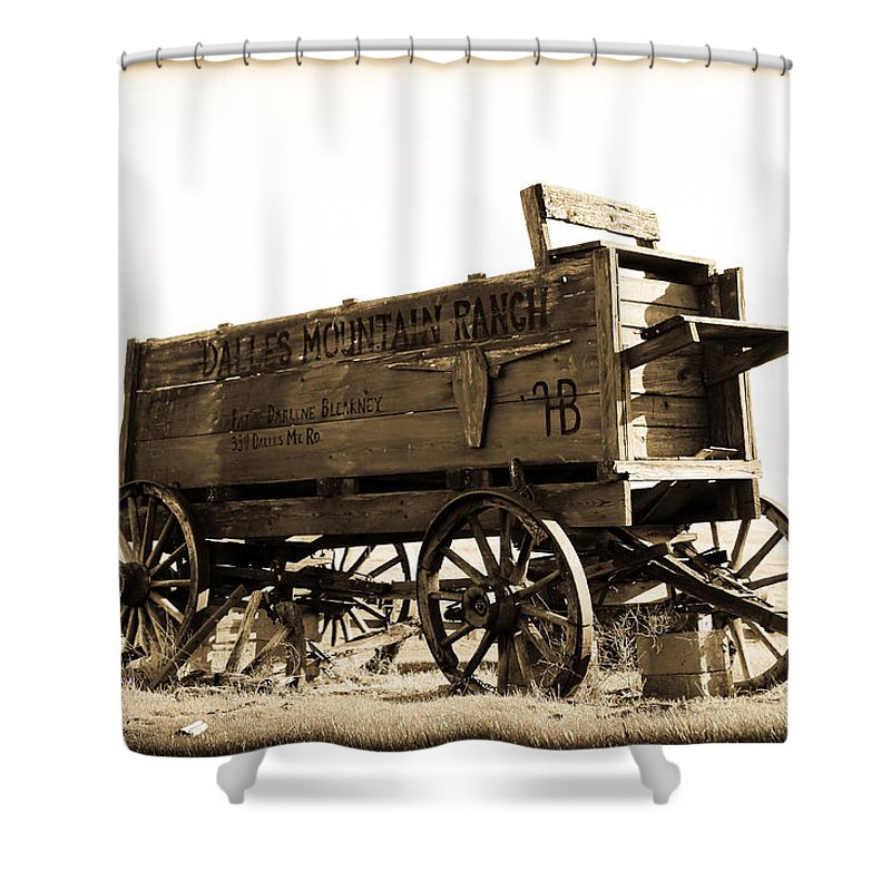 Wood Shower Curtain featuring the photograph The Old Wagon by Steve McKinzie